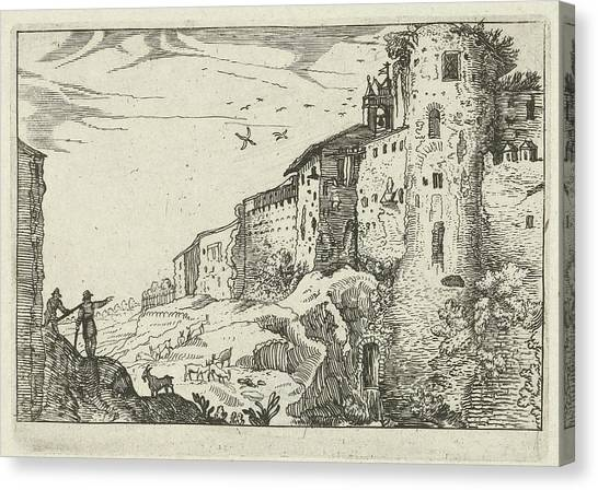 Coexist Canvas Print - Landscape With Roman Ruins, Willem Van Nieulandt II by Willem Van Nieulandt (ii) And Anonymous