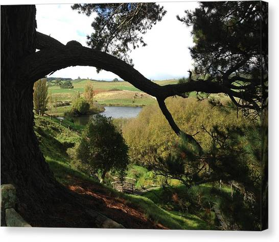 Landscape With Water Canvas Print by Ron Torborg