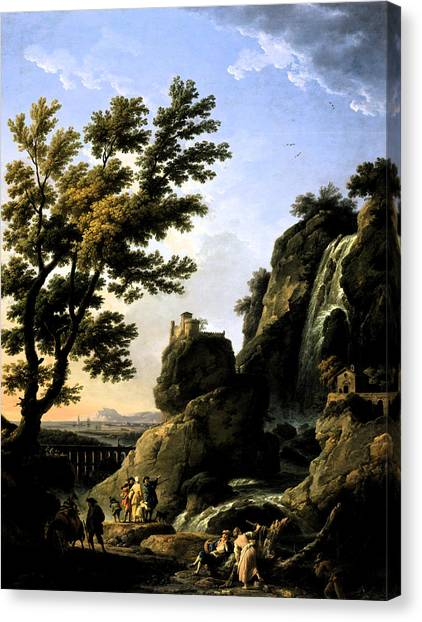 Landscape With Waterfall Canvas Print