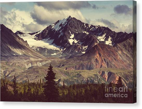 Landscapes On Denali Highway.alaska Canvas Print by Galyna Andrushko