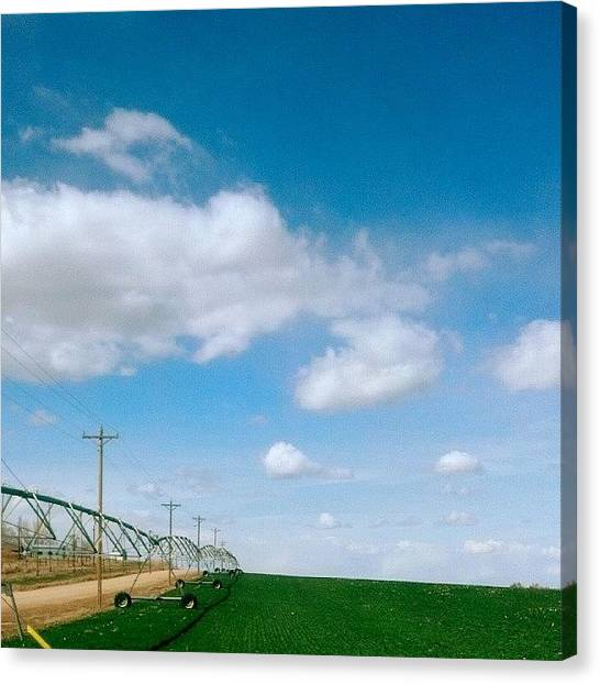 Dirt Road Canvas Print - Farm View by Rhonda Siem