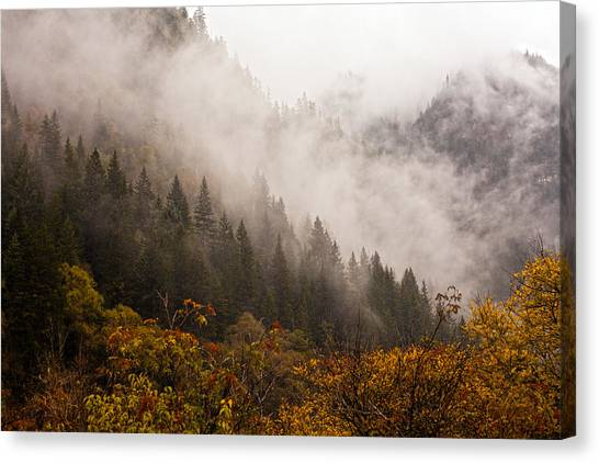 Landscpe Photostories Of Tibet Jiuzhaigou Canvas Print by Sundeep Bhardwaj Kullu sundeepkulluDOTcom