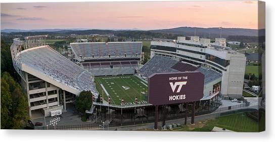 Acc Canvas Print - Lane Stadium At Virginia Tech by Elevated Perspectives LLC