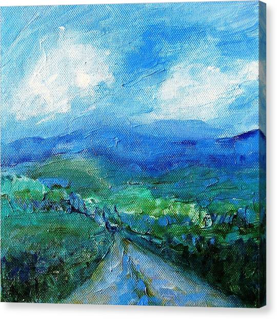 Lane To The Wicklow Hills Canvas Print