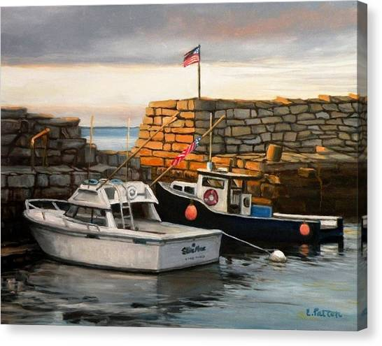 Lanes Cove Fishing Boats Canvas Print