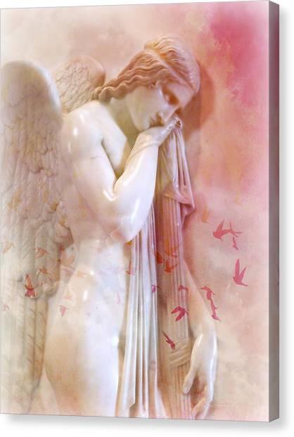 L'angelo Celeste Canvas Print