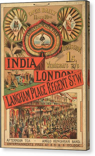 Wrestling Canvas Print - Langham Place by British Library