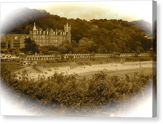 Langland Bay Gower Wales Canvas Print