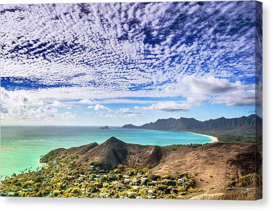 Lanikai Beach Cirrocumulus Clouds Canvas Print