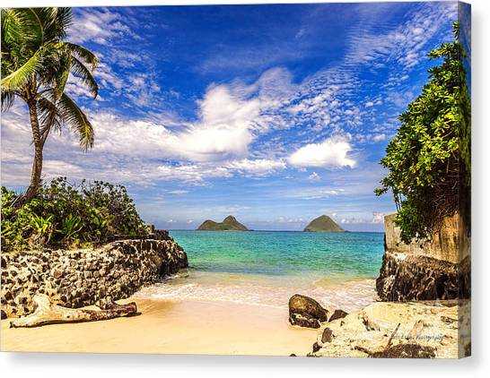 Lanikai Beach Cove Canvas Print