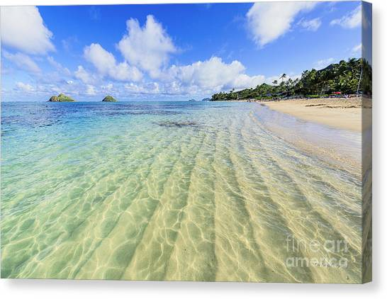 Lanikai Beach Mid Day Ripples In The Sand Canvas Print