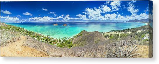 Lanikai Beach Panorama Canvas Print