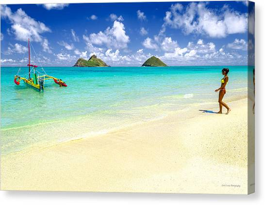 Lanikai Beach Paradise Canvas Print