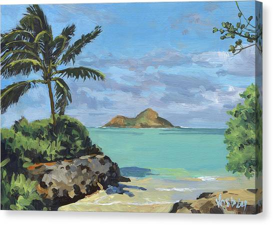 Mauna Loa Canvas Print - Lanikai Beach Path by Stacy Vosberg