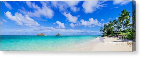Lanikai Beach Tranquility 3 To 1 Aspect Ratio Canvas Print