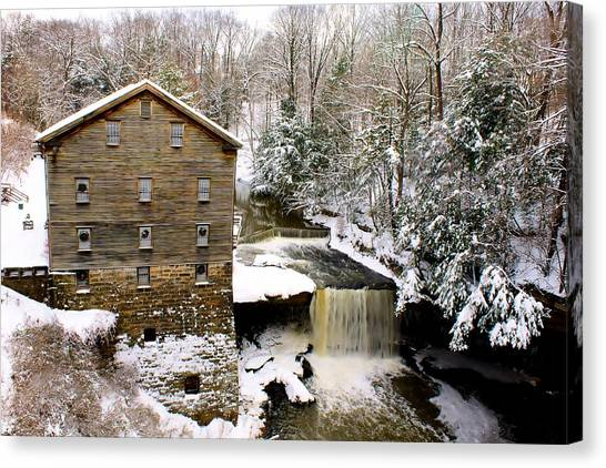 Lanterman's Mill In Winter Canvas Print