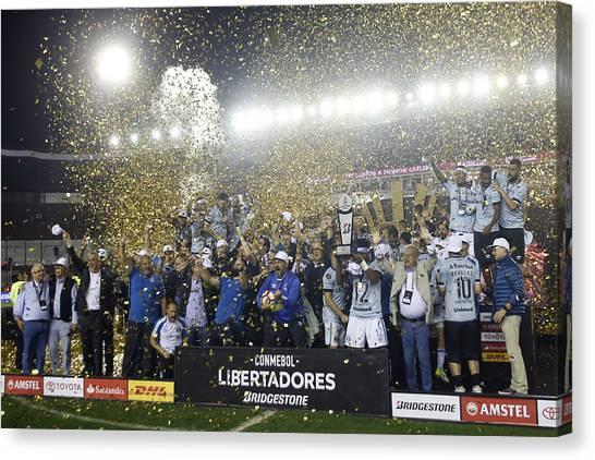 Lanus V Gremio - Copa Conmebol Libertadores 2017 Canvas Print by Demian Alday