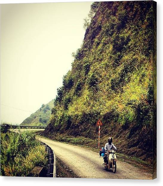 Backpacks Canvas Print - #laocai #ontheroad #gopro #backpacking by An Chung