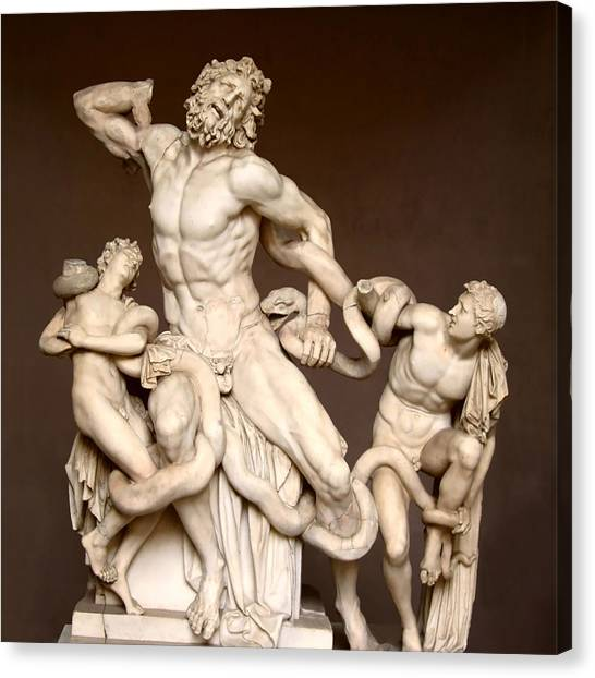 The Vatican Museum Canvas Print - Laocoon And Sons by Ellen Henneke