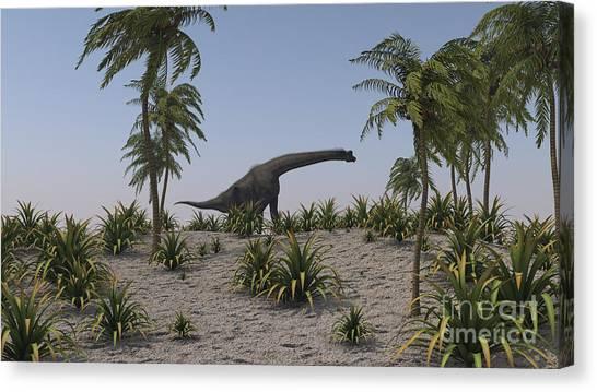Brachiosaurus Canvas Print - Large Brachiosaurus Grazing by Kostyantyn Ivanyshen