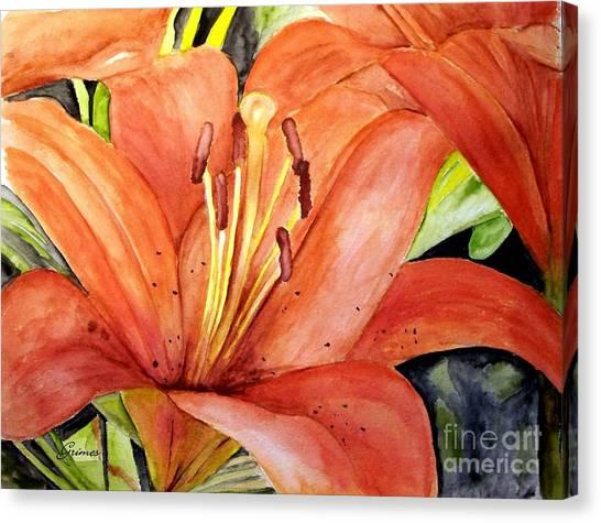 Large Orange Lily Canvas Print