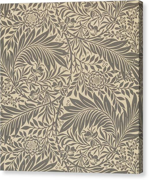 Art Nouveau Canvas Print - Larkspur Wallpaper Design by William Morris