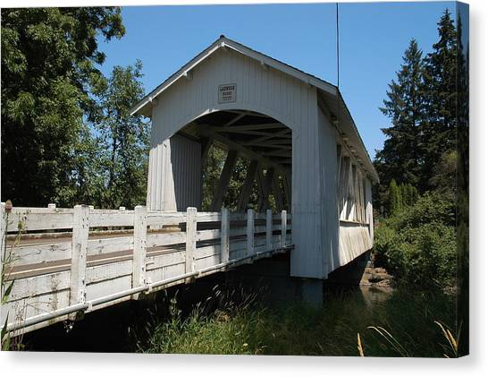 Larlwood Bridge Canvas Print by Gene McKinley