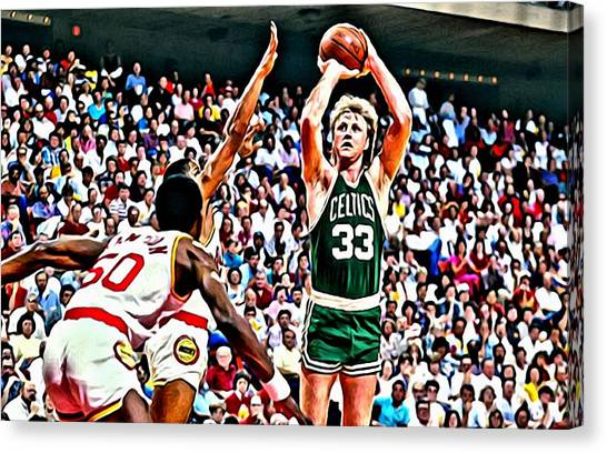 Larry Bird Canvas Print - Larry Bird by Florian Rodarte
