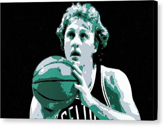 Larry Bird Canvas Print - Larry Bird Poster Art by Florian Rodarte