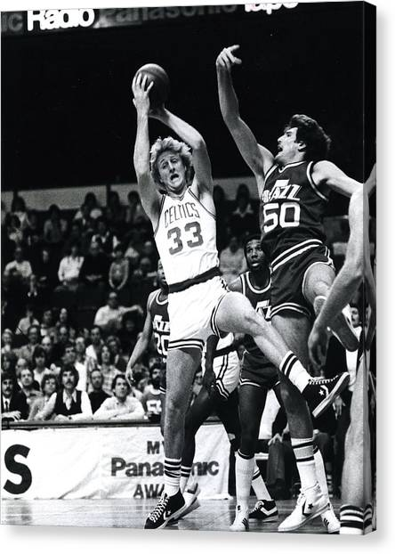 Larry Bird Canvas Print - Larry Bird by Retro Images Archive