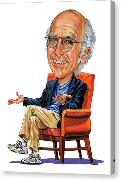 Caricatures Canvas Print - Larry David by Art