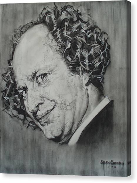 Larry Fine Of The Three Stooges - Where's Your Dignity? Canvas Print
