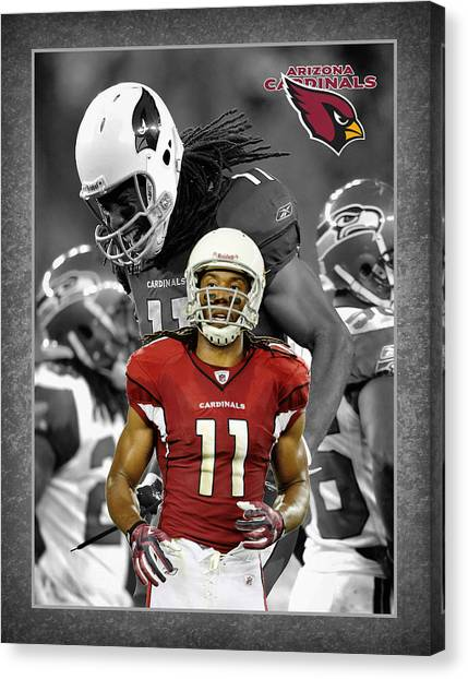 Arizona Cardinals Canvas Print - Larry Fitzgerald Cardinals by Joe Hamilton