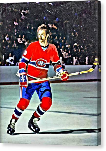 Los Angeles Kings Canvas Print - Larry Robinson by Florian Rodarte