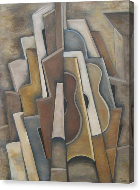 Las Guitarras Canvas Print