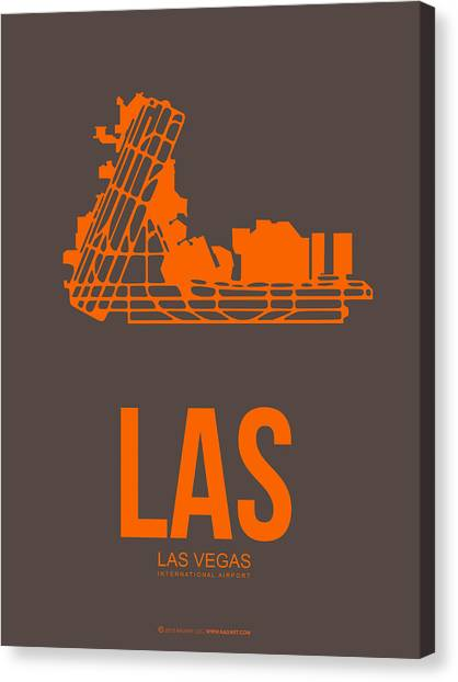Airports Canvas Print - Las Las Vegas Airport Poster 1 by Naxart Studio