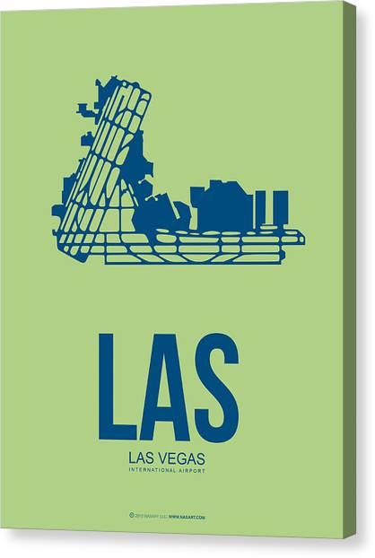 Nevada Canvas Print - Las Las Vegas Airport Poster 2 by Naxart Studio