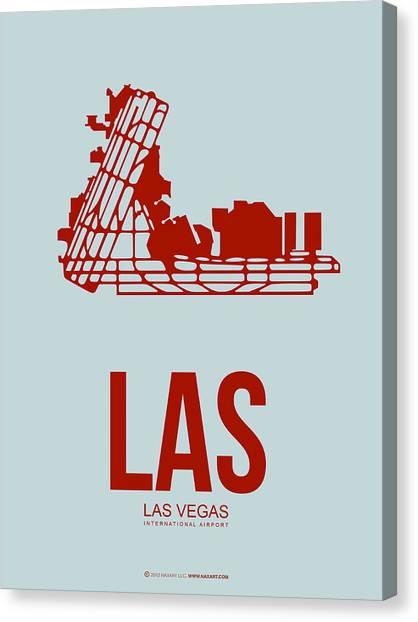 Nevada Canvas Print - Las Las Vegas Airport Poster 3 by Naxart Studio
