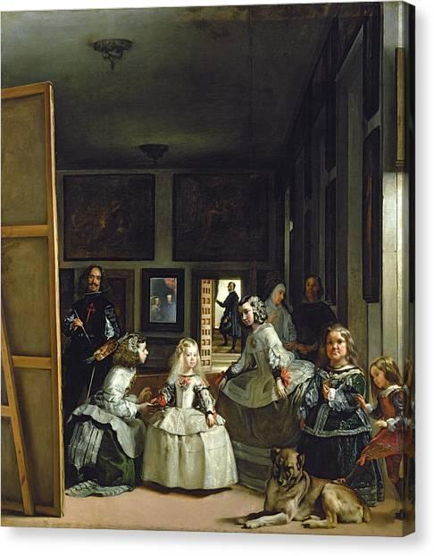 Restoration Canvas Print - Las Meninas Or The Family Of Philip Iv, C.1656  by Diego Rodriguez de Silva y Velazquez