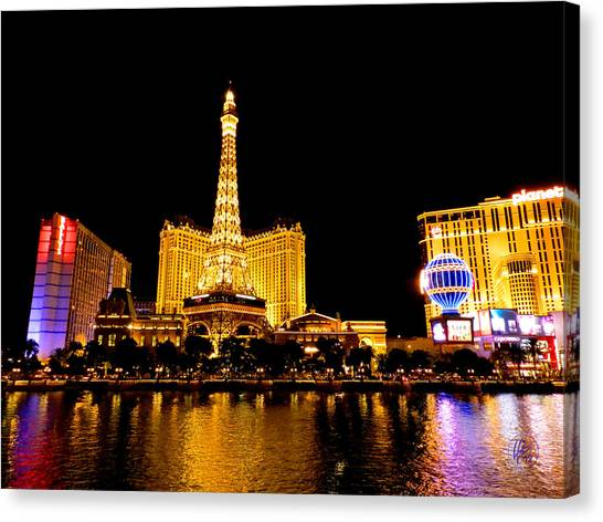 Canvas Print featuring the photograph Las Vegas 012 by Lance Vaughn