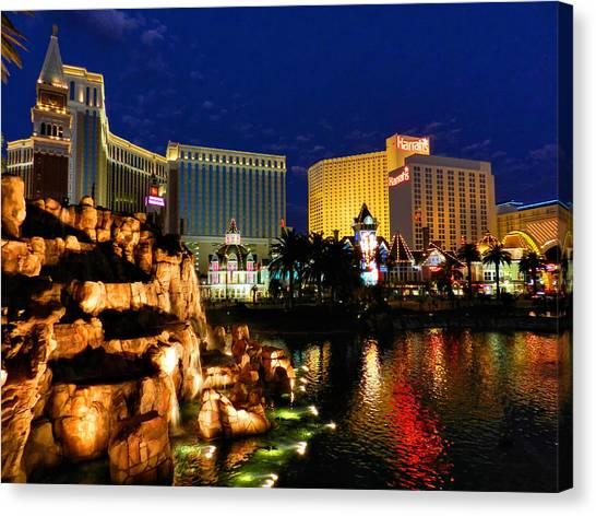Mirages Canvas Print - Las Vegas 039 by Lance Vaughn