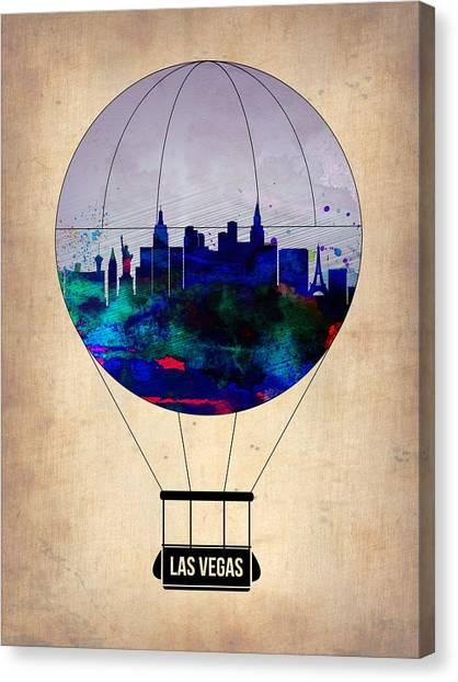 Nevada Canvas Print - Las Vegas Air Balloon by Naxart Studio