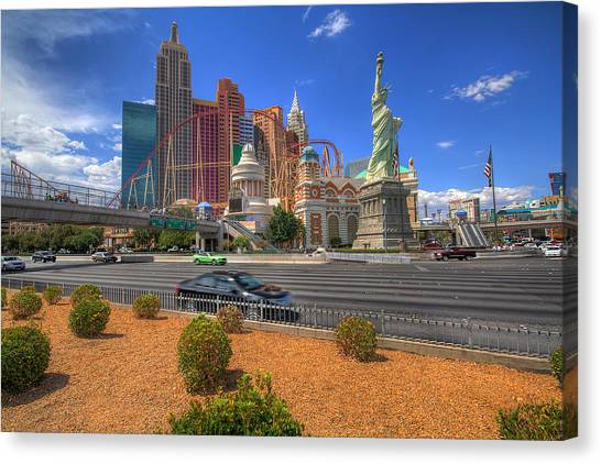 Las Vegas New York New York Canvas Print