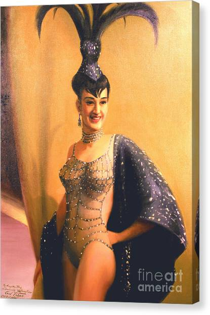 Las Vegas Showgirl  1960s Canvas Print