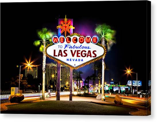 United States Of America Canvas Print - Las Vegas Sign by Az Jackson
