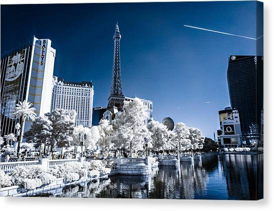 Las Vegas Strip In Infrared 2 Canvas Print