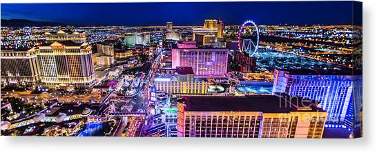 Las Vegas Strip North View 3 To 1 Aspect Ratio Canvas Print