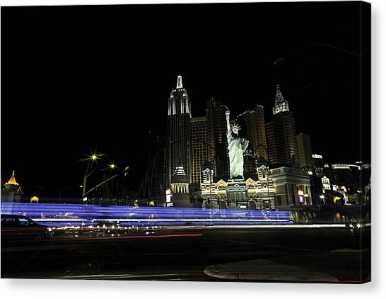 Las Vegas Traffic 2 Canvas Print