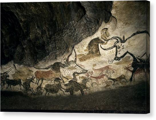 Prehistoric Canvas Print - Lascaux II Cave Painting Replica by Science Photo Library