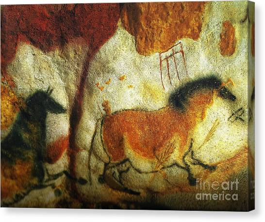 Lascaux II No. 6 - Horizontal Canvas Print